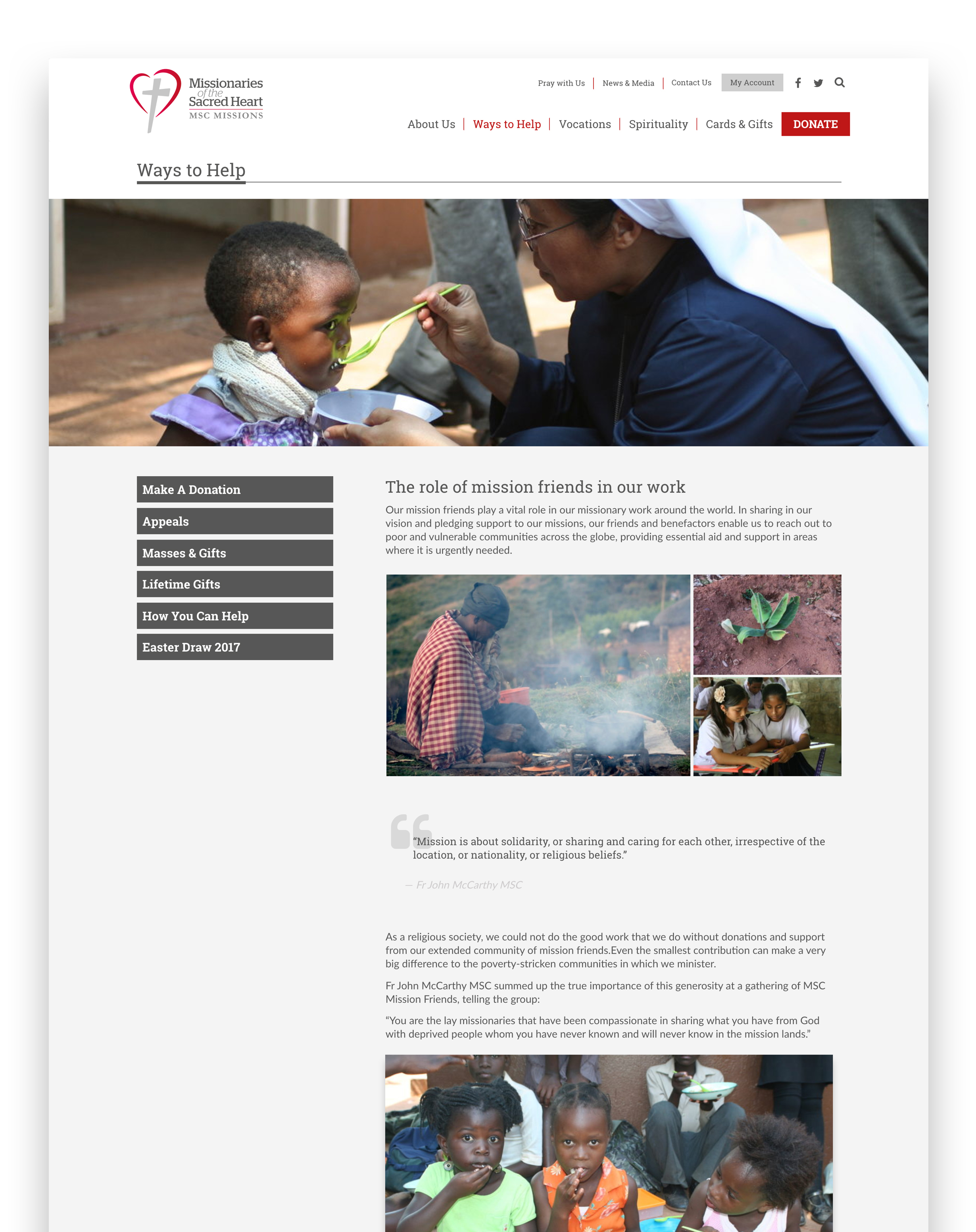 Responsive Woocommerce website Missionaries of the Sacred Heart