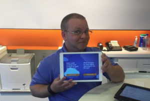 Happy AT&T assistant (in store) with POS App
