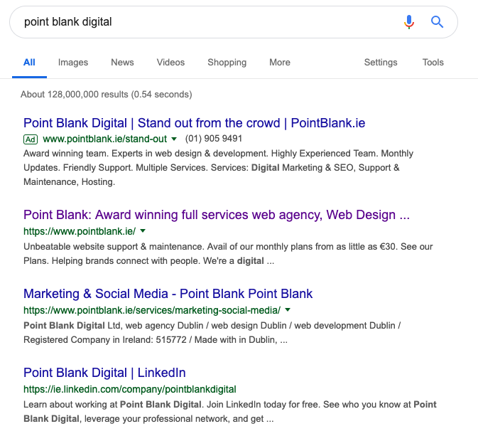 Point Blank, Dublin, Ireland | On-Page vs. Off-Page SEO
